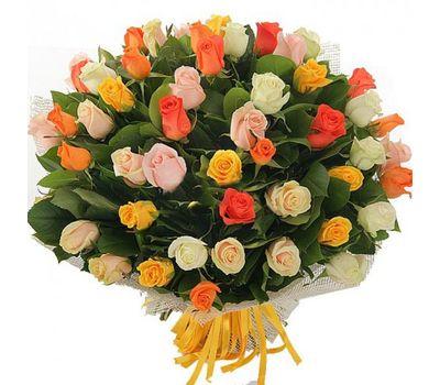 """""""Букет из 51 разноцветной розы"""" в интернет-магазине цветов 7roz.kiev.ua"""