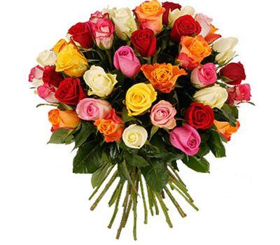 """""""Букет цветов из 41 разноцветной розы"""" в интернет-магазине цветов 7roz.kiev.ua"""
