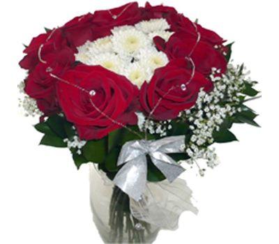 """""""Букет из роз и хризантем"""" в интернет-магазине цветов 7roz.kiev.ua"""