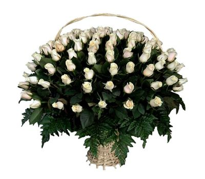 """""""Корзина из 101 импортной розы"""" в интернет-магазине цветов 7roz.kiev.ua"""