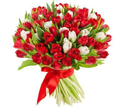 """""""Букет из 101 тюльпана"""" в интернет-магазине цветов 7roz.kiev.ua"""