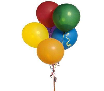 """""""7 разноцветных воздушных шаров"""" в интернет-магазине цветов 7roz.kiev.ua"""