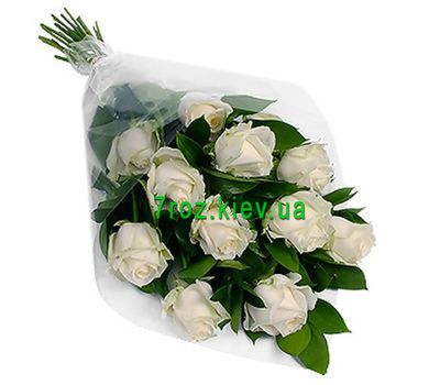 """Bouquet of flowers of 11 white roses"" in the online flower shop 7roz.kiev.ua"