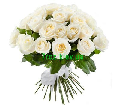 """""""Bouquet of 33 white roses"""" in the online flower shop 7roz.kiev.ua"""