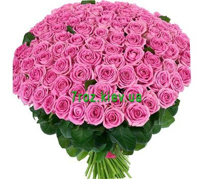 """Bouquet of 101 pink roses"" in the online flower shop 7roz.kiev.ua"