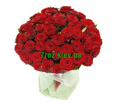 """Bouquet of flowers from 51 red roses"" in the online flower shop 7roz.kiev.ua"