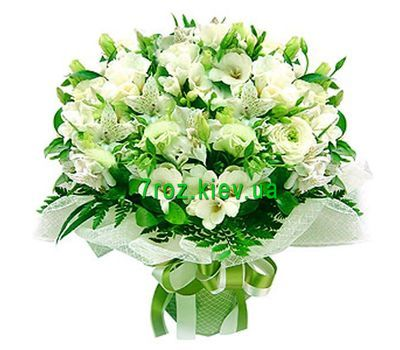 """Bouquet of 21 alstromeries and 5 roses"" in the online flower shop 7roz.kiev.ua"