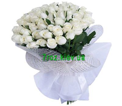 """Bouquet of 41 white roses"" in the online flower shop 7roz.kiev.ua"