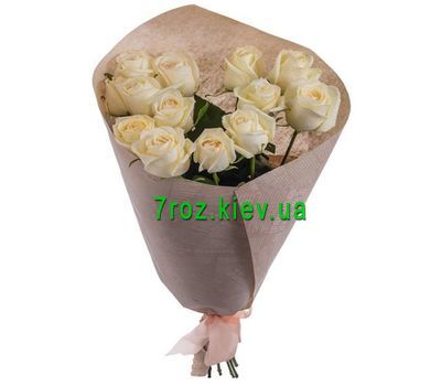 """Bouquet of flowers from 13 white roses"" in the online flower shop 7roz.kiev.ua"