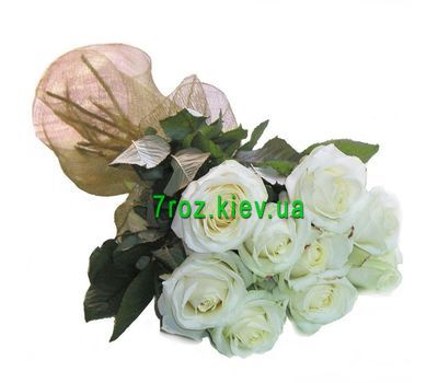 """Bouquet of flowers from 9 white roses"" in the online flower shop 7roz.kiev.ua"