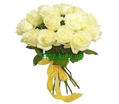 """Bouquet of 19 white roses"" in the online flower shop 7roz.kiev.ua"