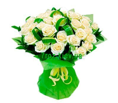 """Bouquet of flowers from 31 white roses"" in the online flower shop 7roz.kiev.ua"