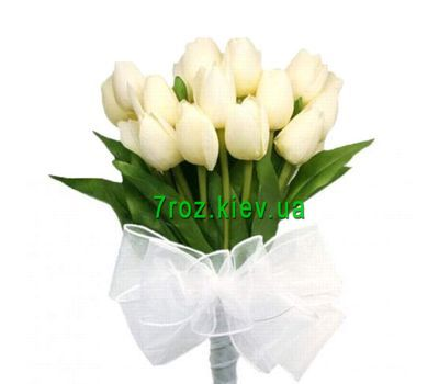 """Bouquet of 17 white tulips"" in the online flower shop 7roz.kiev.ua"