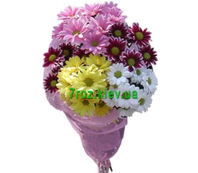 """Bouquet of 5 chrysanthemums"" in the online flower shop 7roz.kiev.ua"