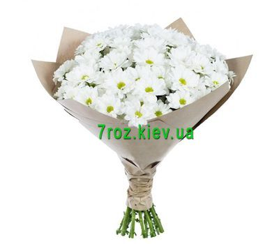 """Bouquet of 15 chrysanthemums"" in the online flower shop 7roz.kiev.ua"