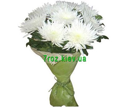 """Bouquet of white chrysanthemums flowers"" in the online flower shop 7roz.kiev.ua"