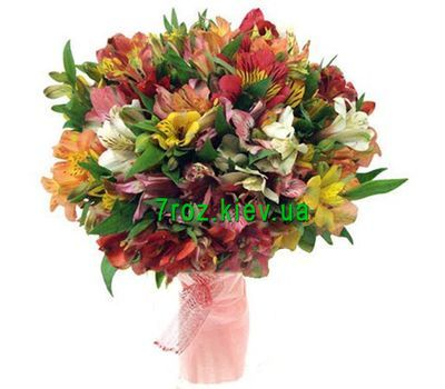 """Bouquet of 31 multi-colored alstroemerias"" in the online flower shop 7roz.kiev.ua"