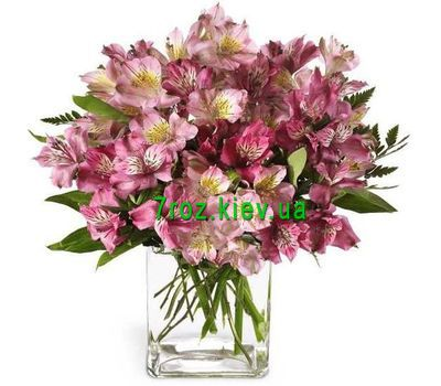 """Bouquet of 15 pink alstromeries"" in the online flower shop 7roz.kiev.ua"