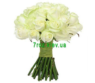 """Bouquet of flowers from 25 white roses"" in the online flower shop 7roz.kiev.ua"
