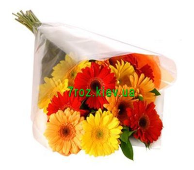 """Bouquet of flowers of 13 different colored gerberas"" in the online flower shop 7roz.kiev.ua"
