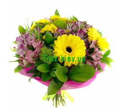 """Bouquet of 3 gerberas 3 chrysanthemums and 3 alstroemerias"" in the online flower shop 7roz.kiev.ua"