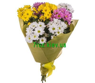 """Bouquet of 7 chrysanthemums"" in the online flower shop 7roz.kiev.ua"