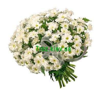 """Bouquet of 19 chrysanthemums"" in the online flower shop 7roz.kiev.ua"