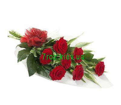 """""""Букет квітів із 7 червоних троянд"""" в интернет-магазине цветов 7roz.kiev.ua"""