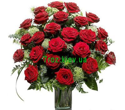 """""""Bouquet of 25 red roses flowers"""" in the online flower shop 7roz.kiev.ua"""