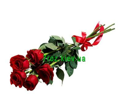 """Bouquet of 5 red roses"" in the online flower shop 7roz.kiev.ua"