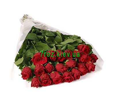 """Bouquet of flowers from 21 imported roses"" in the online flower shop 7roz.kiev.ua"