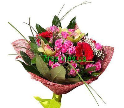 """""""Букет из 3 орхидей, 5 роз и 3 гербер"""" в интернет-магазине цветов 7roz.kiev.ua"""