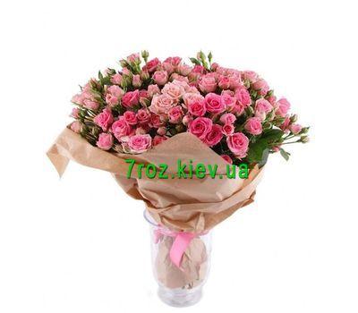 """""""Букет із 27 рожевих троянд"""" в интернет-магазине цветов 7roz.kiev.ua"""