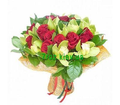 """""""Букет из 11 орхидей и 16 роз"""" в интернет-магазине цветов 7roz.kiev.ua"""