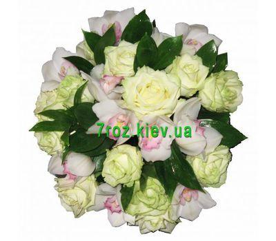 """""""Букет із 11 троянд і 10 орхідей"""" в интернет-магазине цветов 7roz.kiev.ua"""
