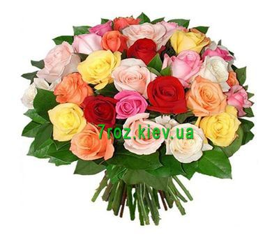 """Bouquet of flowers from 31 multi-colored roses"" in the online flower shop 7roz.kiev.ua"