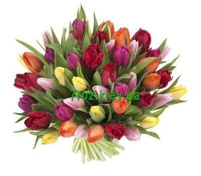 """""""Букет из 51 тюльпана"""" в интернет-магазине цветов 7roz.kiev.ua"""