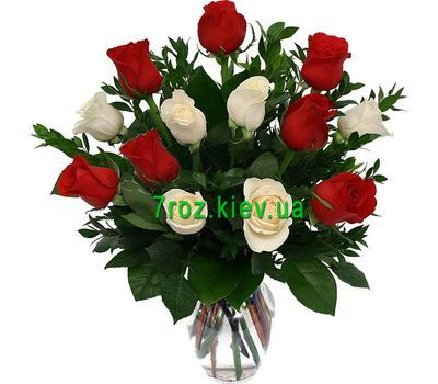 """Bouquet of flowers from 13 roses"" in the online flower shop 7roz.kiev.ua"