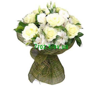 """Bouquet of flowers from 11 roses and 6 alstroemerias"" in the online flower shop 7roz.kiev.ua"