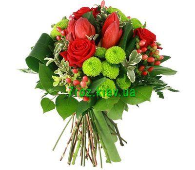 """""""Букет из 5 роз, 3 тюльпанов и 3 хризантем"""" в интернет-магазине цветов 7roz.kiev.ua"""