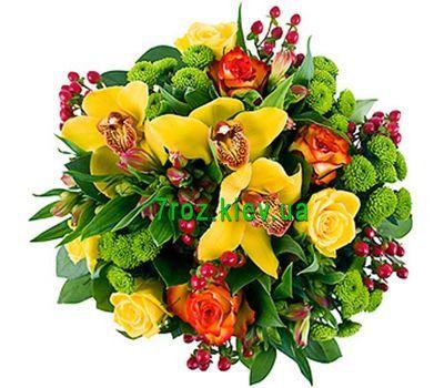 """""""Букет цветов из 8 роз, 4 хризантемы и 3 орхидеи"""" в интернет-магазине цветов 7roz.kiev.ua"""