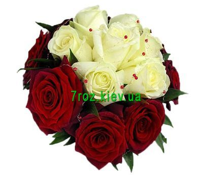 """Bouquet of flowers from 17 multi-colored roses"" in the online flower shop 7roz.kiev.ua"