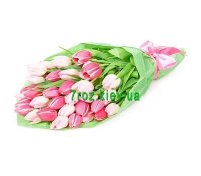 """Bouquet of flowers from 31 tulips"" in the online flower shop 7roz.kiev.ua"