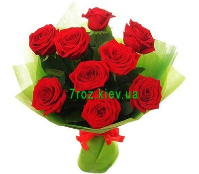 """Bouquet of flowers of 9 red roses"" in the online flower shop 7roz.kiev.ua"