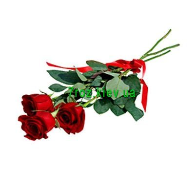 """Bouquet of 3 red roses"" in the online flower shop 7roz.kiev.ua"