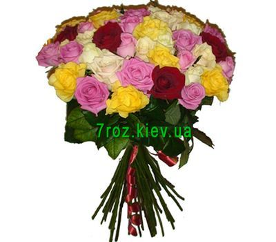 """Bouquet of 39 multi-colored roses"" in the online flower shop 7roz.kiev.ua"