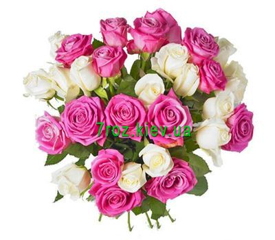 """""""Bouquet of 29 multi-colored roses"""" in the online flower shop 7roz.kiev.ua"""