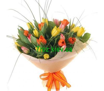 """Bouquet of 29 white tulips"" in the online flower shop 7roz.kiev.ua"