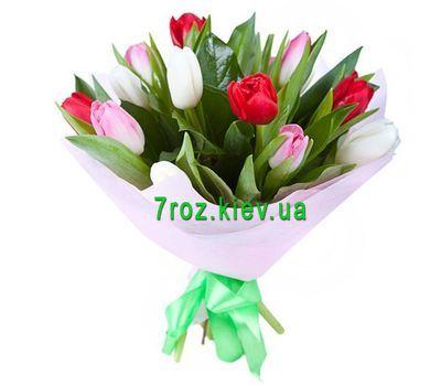 """""""Букет из 11 тюльпанов"""" в интернет-магазине цветов 7roz.kiev.ua"""