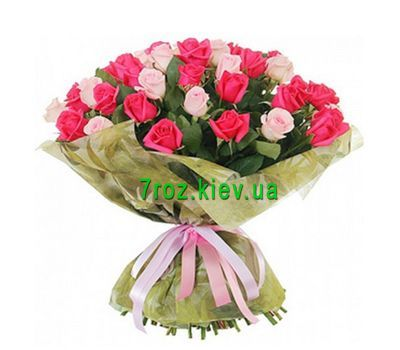 """""""Bouquet of flowers from 31 multi-colored roses"""" in the online flower shop 7roz.kiev.ua"""